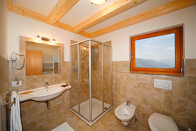 Bathroom with natural stone floors